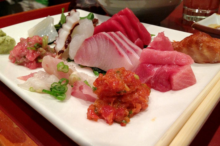 Sashimi lunch special at Sushi Gen